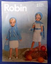 Vintage Robin dolls clothes knitting pattern for Sindy doll