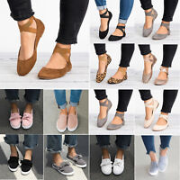 Womens Ballerina Ballet Pumps Slip On Flat Shoes Casual Sneakers Loafer Sandals