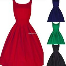 Hepburn Rockabilly Vintage Pinup Party Cocktail Evening Prom Bridesmaid Dress N9