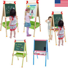 Portable Kids Standing Art Easel Double-Sided Lifting Painting Board W/ Tray Us