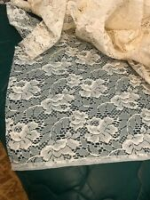ECRU LACE YARDAGE - 4 YDS X 60 INCHES WIDE