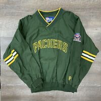 Vintage Green Bay Packers NFL Pro Player Jacket Sz XL Green Spell Out