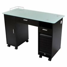 "Icarus ""Superb"" Black Manicure Nail Table Station"