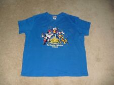 DISNEY WORLD PARKS SZ XL HAPPIEST CELEBRATION EARTH SHIRT EMBROIDERED 50TH WOW