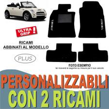 PER MINI COOPER CABRIO R52 TAPPETI AUTO SU MISURA MOQUETTE + GOMMA 2 RICAMI PLUS