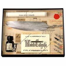Conjunto de caligrafía, Plata Pluma Quill & 5 Nib Set, gran regalo (7260SL)