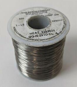 "1lb Spool Fishing Leader Line Solid Monel Trolling Wire 30lb 831ft .020""diameter"