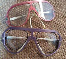 True Vintage! 2x FALCON Sportbrille / Wechselgläser - metallic - Modell 989 !!!
