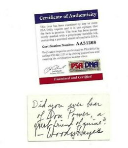 Woody Hayes Autographed 2x3 Business Card PSA COA Ohio State Football Coach