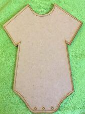 Baby Vest Laser Cut Wooden Mdf Craft Shape 300 x 200mm