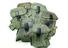 U.S. USED ORIGINAL O.D. GREEN ALICE SYSTEM 3 CELL M16 SURPLUS MAGAZINE POUCH