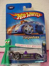 2005 #1 FE Hot Wheels TOR-SPEEDO #041/41☆Purple; PR5☆Torpedoes First EdITIONS
