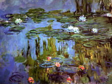 MONET WATER LILIES 1915 CANVAS GICLEE SAMPLE ART PRINT REPRO
