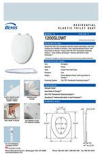 Bemis 1200Slowt-174 Elongated Plastic Slow Close Toilet Seat - Blue Mist