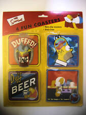 The Simpsons Homer & Barney Set of 4 x Non Slip Novelty Fun Drink Coasters Gift