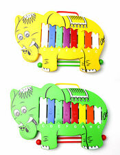 More details for toy musical glockenspiel + beaters- elephant design percussion- perfect for kids