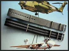 20mm NATO G10 nylon band 2 pak combo RAF utc Stitched Bonded MoD strap IW SUISSE