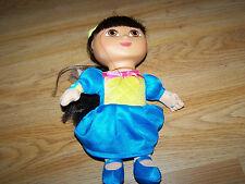 "Fairytale Dora the Explorer Princess Plush Doll 9"" Vinyl Face New wo Box"