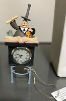 "Disney Store Nightmare Before Christmas Mayor Figurine Mini Clock NIP NEW ~6"""