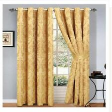 Imperial Homeware London Ruby Jacquard Eyelet Room Curtains 137cmL 117cmW