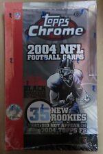 2004 TOPPS CHROME NFL FOOTBALL HOBBY BOX ROETHLISBERGER MANY RC SEALED NEW