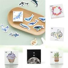 45x /pack Blue Whale Moon Paper Sticker Diary Decoration DIY Scrapbooking Label~