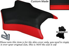 RED & BLACK CUSTOM FITS APRILIA RS 50 06-09 FRONT LEATHER SEAT COVER