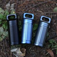 3pcs Titanium Outdoor Waterproof Mini Pill Case Box Capsule Bottle Travel