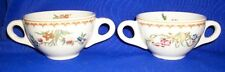 "Lot of 2 Vintage Floral Cups- 6"" x 3 1/2"" Marked BB7"