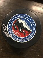 Bill Barber Hand signed Autographed Hockey Hall of Fame Puck  Molson Canadian