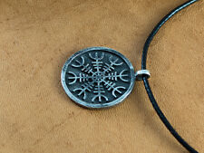 Silver Aegishjalmur - The Helm of Awe Viking Norse Protection Necklace Pendant