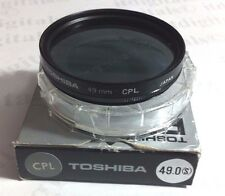 49mm Circular Polarizing CPL CIR-PL Glass Lens Filter 49 mm PL-CIR Japan Toshiba
