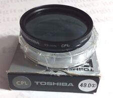 49mm Circular Polarizing CPL CIR-PL Glass Lens Filter 49 mm PL-CIR Japan Toshiba