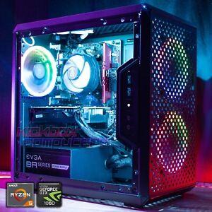 Gaming PC RGB Desktop Computer AMD Ryzen 5, GTX 1060, 16GB, 240GB SSD, 2TB WiFi