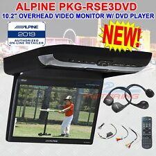 "ALPINE PKG-RSE3DVD 10.2"" OVERHEAD FLIPDOWN SCREEN DVD VIDEO MONITOR 2 HEADPHONES"