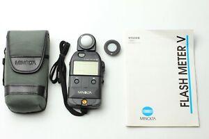 MINT IN CASE Minolta Flash Meter V Light Meter From JAPAN #F788
