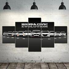 Honda Civic Car 5 Pieces Canvas Wall Art Poster Print Home Deco