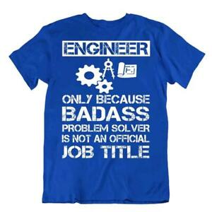 Engineer T-Shirt Badass Solver Tshirt Job Title Shirt Funny Tee