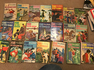 Famous Five, Enid Blyton Vintage Books All 21 Matching Covers Paperback