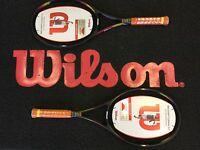 2X WILSON PRO STAFF CLASSIC 6.1 TENNIS RACKETS GRIP L3 rrp £360.00.strung.