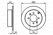 2x Bremsscheibe für Bremsanlage Hinterachse BOSCH 0 986 479 125