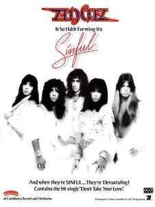 ANGEL rock band CASABLANCA promo custom poster 24x32 SINFUL LP VINYL RARE