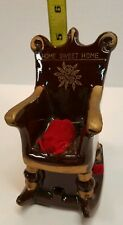 Home Sweet Home Ceramic Rocking Chair with Pin Cushion sewing measuring tape