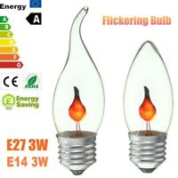 E27 E14 LED Burning Light Flicker Flame Lamp Bulb Fire Effect Party Decor Lamp