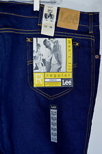 NWT LEE Mens Fit Reg Stretch Blue Denim Jeans 52X30 UNION MADE IN USA