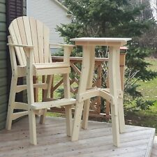 Adirondack Tall Table Plans - Full Size Patterns