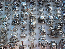 20pcs Men's Jewelry Cool Skull Ring Mixed Lots Alloy Rings Party Gifts