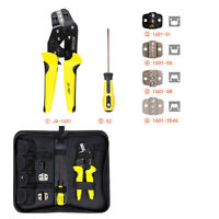 Professional Crimper Pliers Ratcheting Terminal Crimping Screwdriver Tool Set