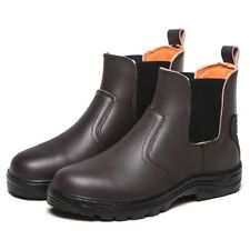 MENS LEATHER WATERPROOF SAFETY STEEL TOE CAP BOOTS WORK SHOES HIKING SNEAKERS
