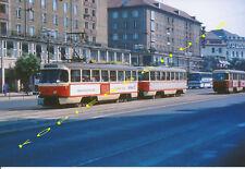 Farb-Foto Tatra Straßenbahnen Dresden 1991